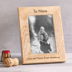 Personalised Oak Picture Frame Small