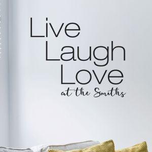 Live Laugh Love Wall Sticker