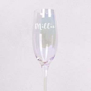 Personalised Iridescent Champagne Flute