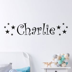 personalised star name wall sticker