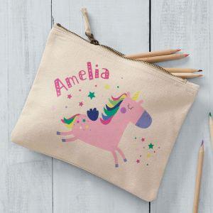 Personalised Pink Unicorn Pencil Case