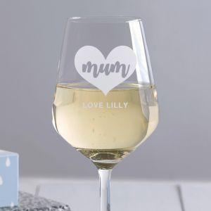 Personalised Mum Wine Glass