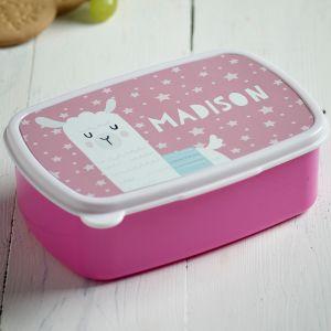 Personalised Llama Sandwich Box