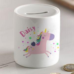 Personalised Unicorn Money Box