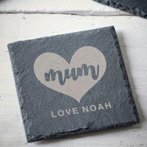 Personalised Mum Slate Coaster