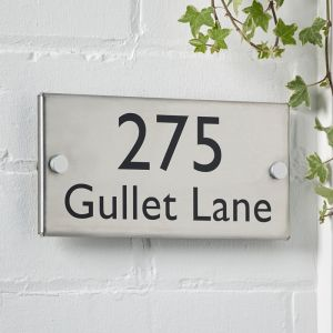 Stainless Steel Metal House Sign 10cm x 20cm
