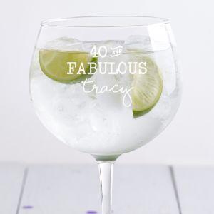 Personalised Fabulous Gin Balloon Glass