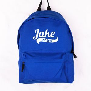 Personalised Childrens Blue Backpack