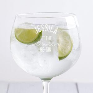 Personalised Celebration Gin Balloon Glass