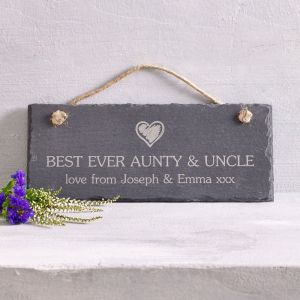 Personalised Rectangle Hanging Slate Sign