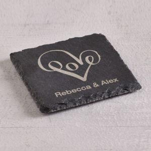 Personalised Love Slate Coaster