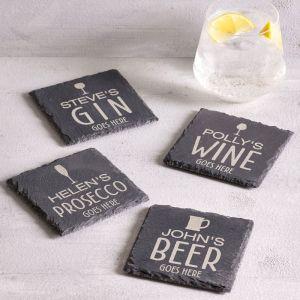Personalised Drinks Slate Coaster