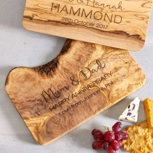 Personalised Olivewood Cheese Board