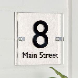 Modern Acrylic House Sign 15cm x 15cm
