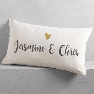 Personalised Heart Couple Cushion