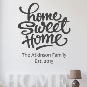 Personalised Home Sweet Home Wall Sticker