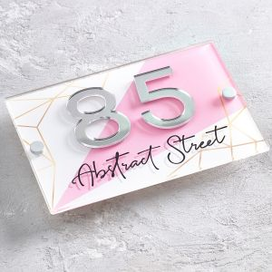 Abstract Contemporary Acrylic House Sign Door Number Plaque