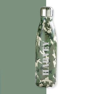 Camouflage Personalised Water Bottle