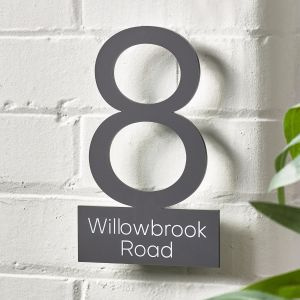 Contemporary Floating House Sign Number Single