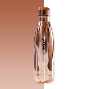 Personalised Chrome Rose Gold Water Bottle