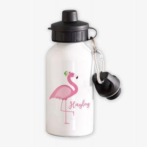 Flamingo Personalised Childrens Water Bottle