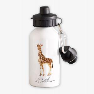 Giraffe Personalised Childrens water Bottle