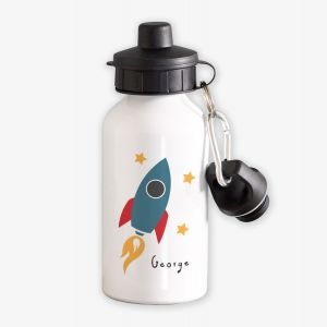 Rocket Personalised Childrens Water Bottle