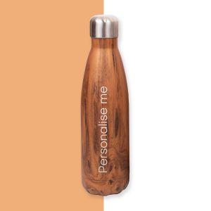 Personalised Wood Water Bottle