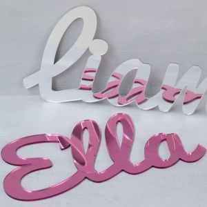 Personalised Mirrored Acrylic Long Name Sign