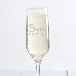 Personalised Name Champagne Flute