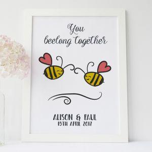 Personalised Belong Together Print