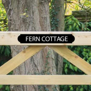 Personalised Gate Sign 45cm x 7.5cm