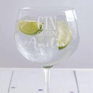 Personalised Gin Queen Balloon Glass