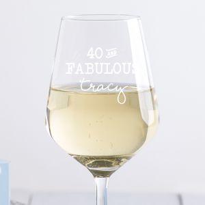 Personalised Fabulous Wine Glass