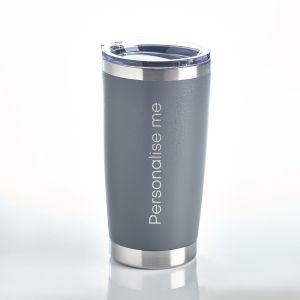 Personalised Travel Mug Grey