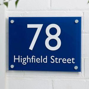 House Sign Acrylic 21cm x 30cm