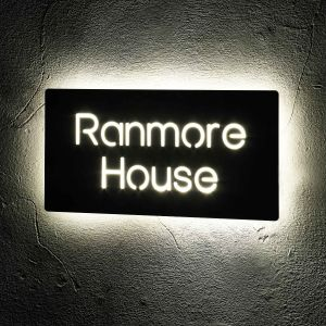Illuminated House Signs LED Door Number 30cm x 15cm