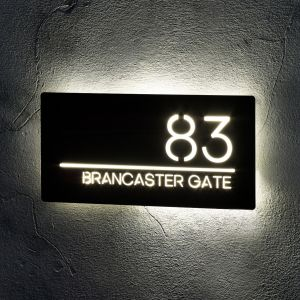 Illuminated LED House Signs Door Number 30cm x 15cm