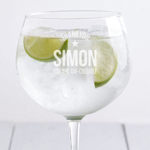 Personalised Thank You Gin Glass