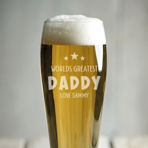 Personalised Daddy Craft Beer Glass