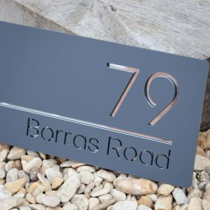 Contemporary Floating Acrylic House Sign 15cm x 30cm
