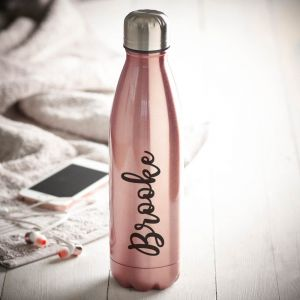 personalised rose gold water bottle
