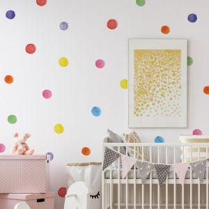 Watercolour Polka Dot Wall Stickers