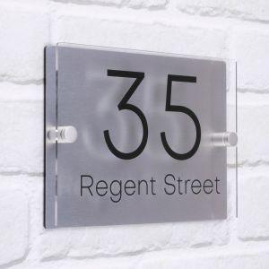 Acrylic House Sign 20cm x 14cm - Regent