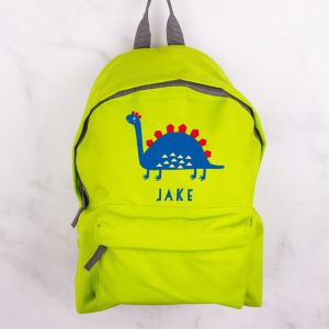 Personalised Childrens Dinosaur Backpack