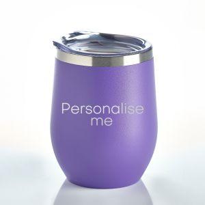 Personalised Insulated Tumbler Purple