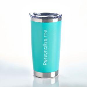 Personalised Travel Mug Aqua