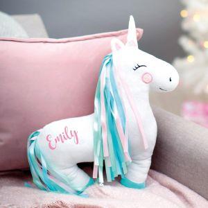 Personalised Unicorn Shaped Cushion